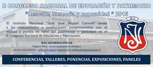 II CONGRESO NACIONAL DE EDUCACIÓN Y PATRIMONIO_900x400_horizontal