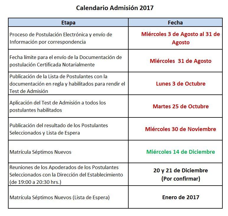 calendario-admision-2017